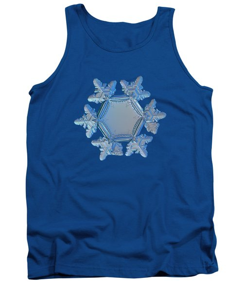 Tank Top featuring the photograph Snowflake Photo - Sunflower by Alexey Kljatov