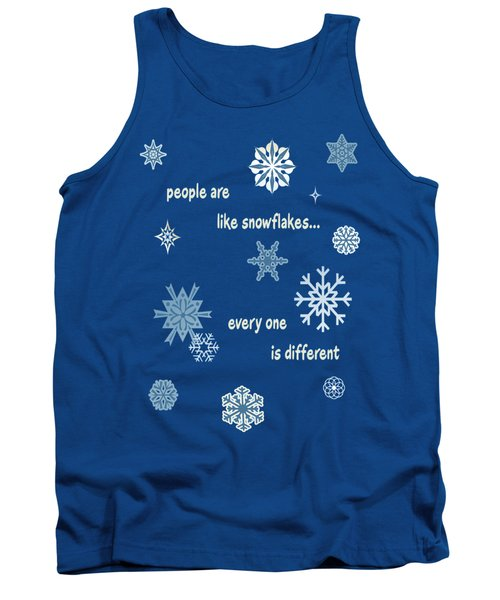 Snowflakes 5 Tank Top by Methune Hively