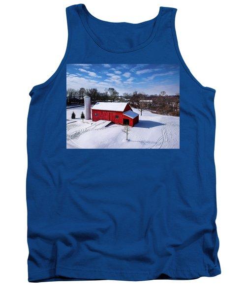 Snowy Barn Tank Top