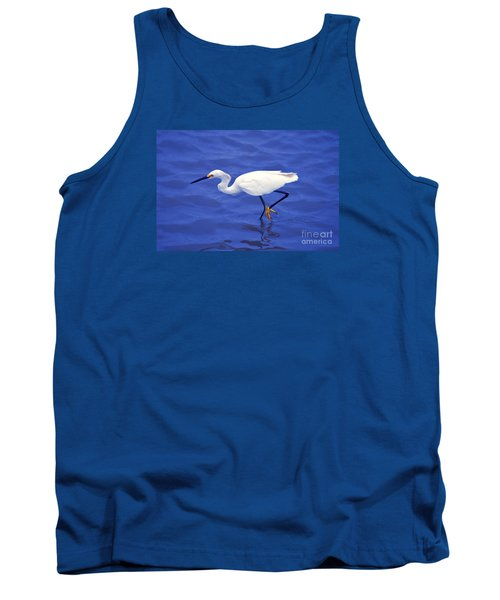 Tank Top featuring the photograph Snowy Egret 1 by Bill Holkham