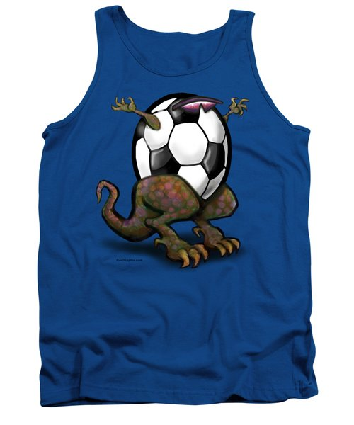 Soccer Zilla Tank Top by Kevin Middleton
