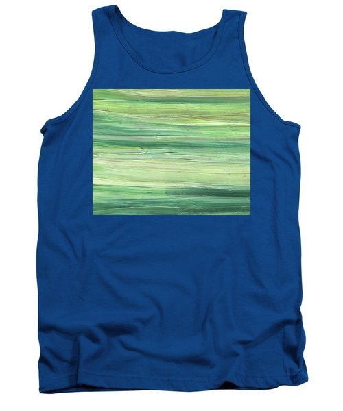 Soft Green Organic Abstafor Interior Decor Viii Tank Top