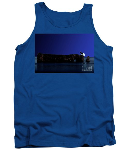 Solar Eclipse Over Perce Rock Tank Top