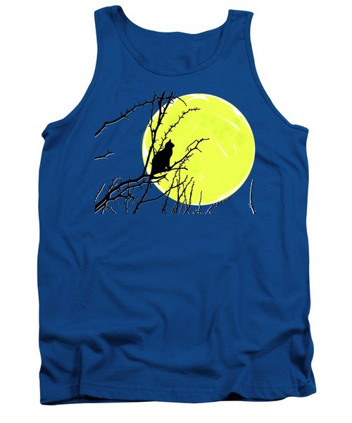 Solitary With Golden Moon Tank Top