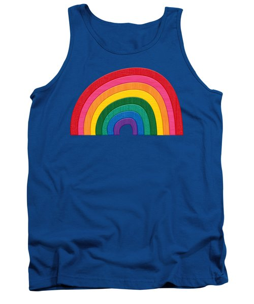 Somewhere Over The Rainbow Tank Top by Pristine Cartera Turkus