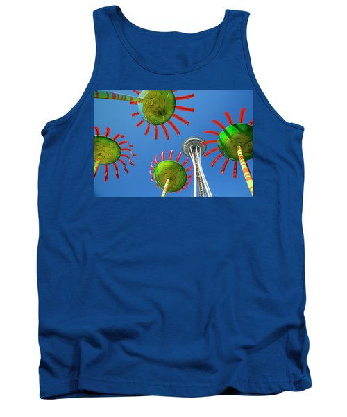 Tank Top featuring the photograph Sonic Bloom In Seattle Center by Adam Romanowicz