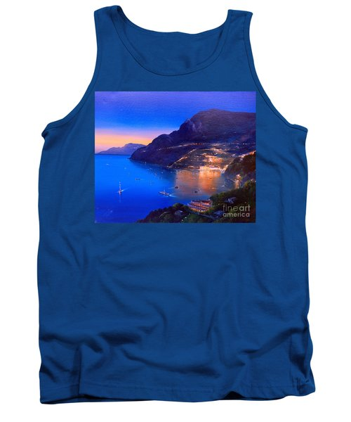 Tank Top featuring the painting La Dolce Vita A Sorrento by Rosario Piazza