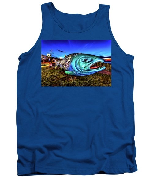 Soul Salmon During Blue Hour Tank Top by Rob Green