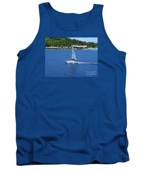 Tank Top featuring the photograph South Sea Sail by Phyllis Kaltenbach