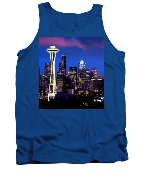Space Needle At Night  Tank Top