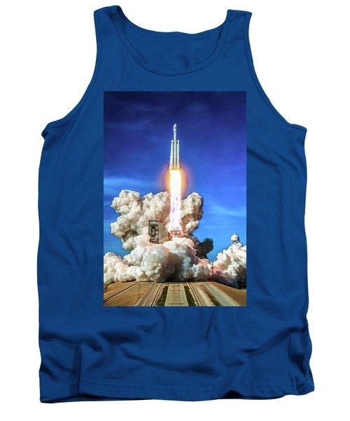 Spacex Falcon Heavy Rocket Launch Tank Top
