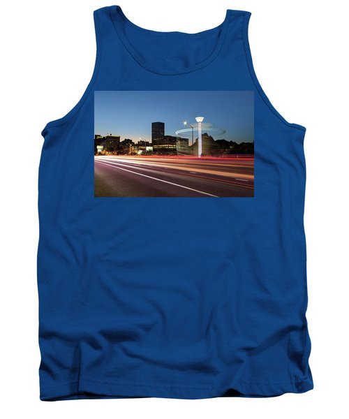 Spinning Swing Chair Carnival Rides Long Exposure Tank Top
