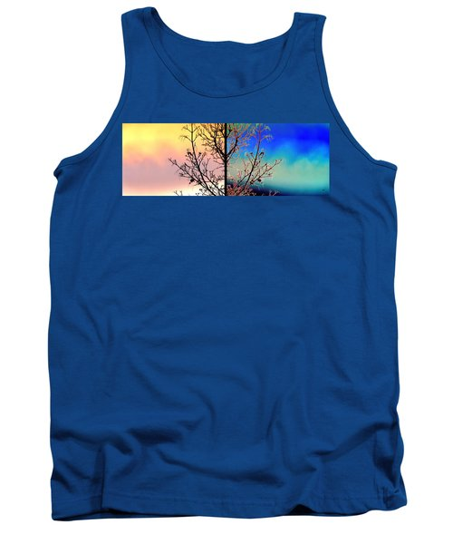Tank Top featuring the digital art Splendid Spring Fusion by Will Borden