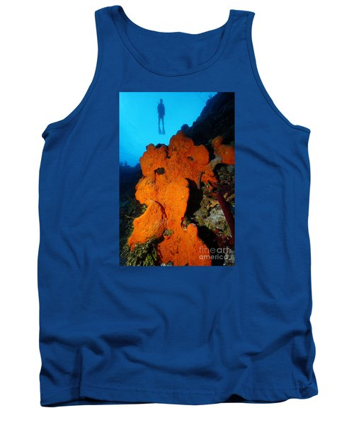 Tank Top featuring the photograph Sponge Diver by Aaron Whittemore