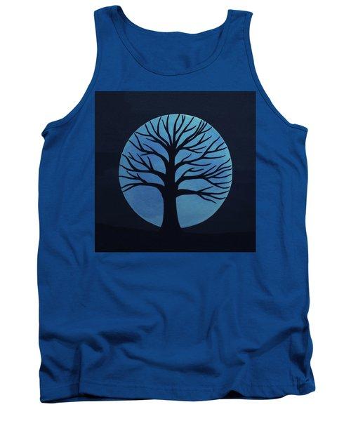 Spooky Tree Blue Tank Top