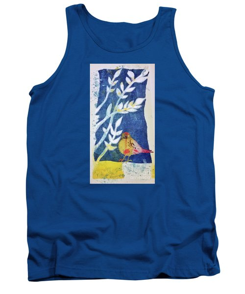 Tank Top featuring the mixed media Spring Has Sprung by Cynthia Lagoudakis