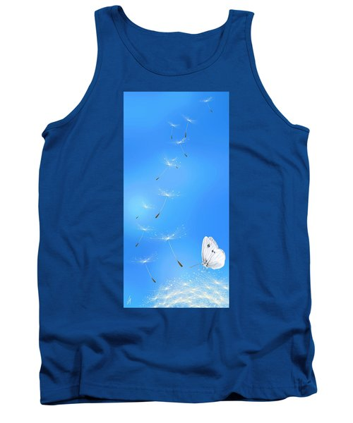 Tank Top featuring the painting Spring Lightness by Veronica Minozzi