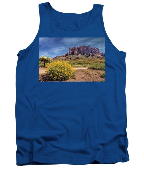 Springtime In The Superstition Mountains Tank Top