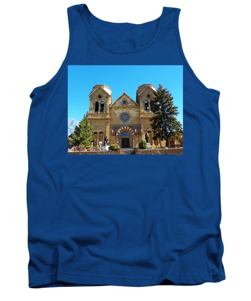 Tank Top featuring the photograph St. Francis Cathedral Santa Fe Nm by Joseph Frank Baraba