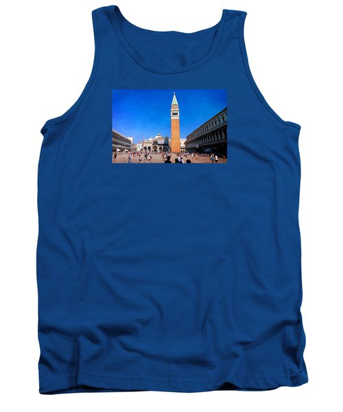 Tank Top featuring the photograph St Mark's Square by Anne Kotan