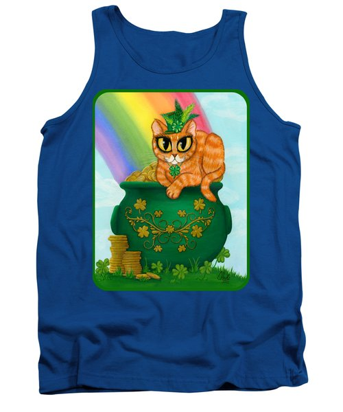 Tank Top featuring the painting St. Paddy's Day Cat - Orange Tabby by Carrie Hawks