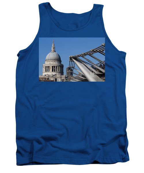 St Pauls Cathedral And The Millenium Bridge  Tank Top