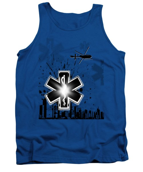 Star Of Life Graphic Tank Top by Melissa Smith