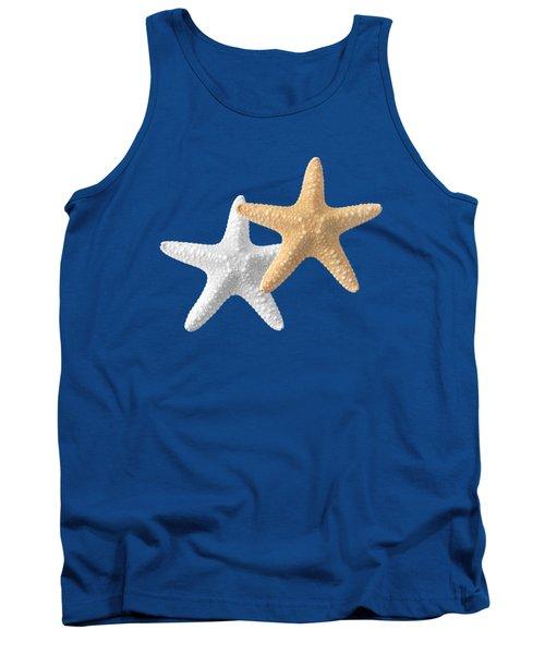 Starfish On Turquoise Tank Top