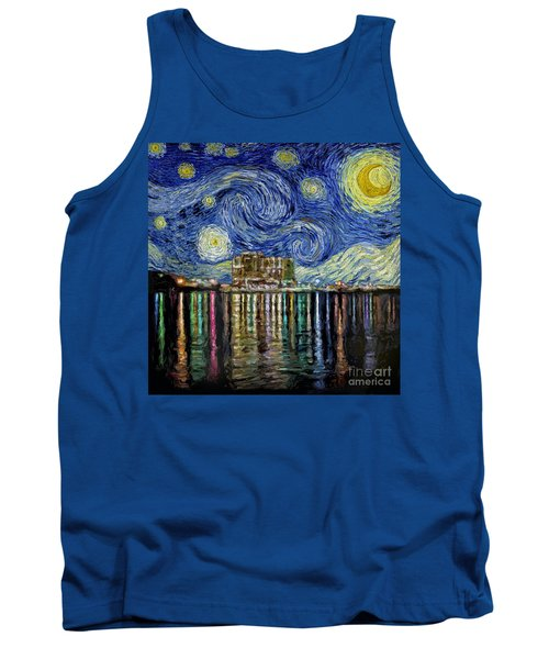 Starry Night In Destin Tank Top by Walt Foegelle