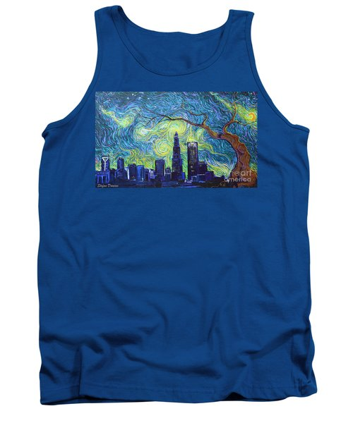 Starry Night Over The Queen City Tank Top