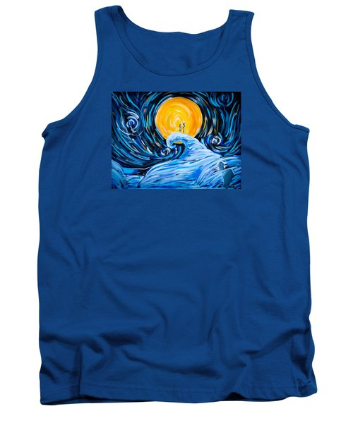 Starry Spiral Hill Night Tank Top by Marisela Mungia