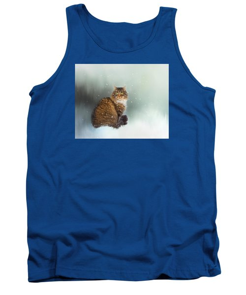 Starting To Snow Again Tank Top by Theresa Tahara