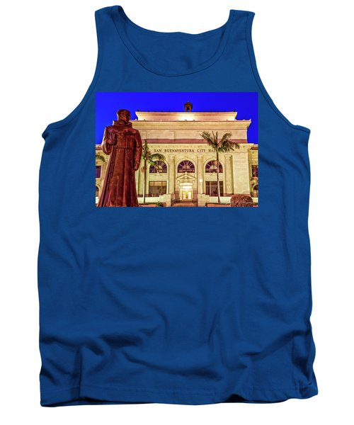 Statue Of Saint Junipero Serra In Front Of San Buenaventura City Hall Tank Top