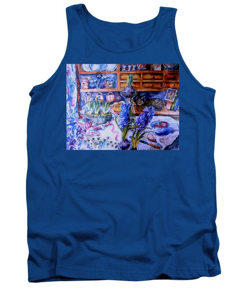 Still Life With Hyacinths  Tank Top by Trudi Doyle