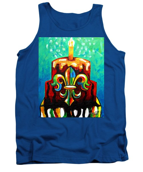 Stl250 Cakeway To The West Payne Gentry House Fleur De Lis Cake Tank Top by Genevieve Esson