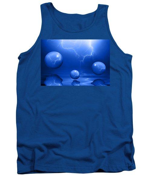 Stormy Skies - Blue Tank Top