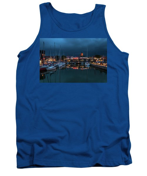 Stralsund At The Habor Tank Top by Martina Thompson