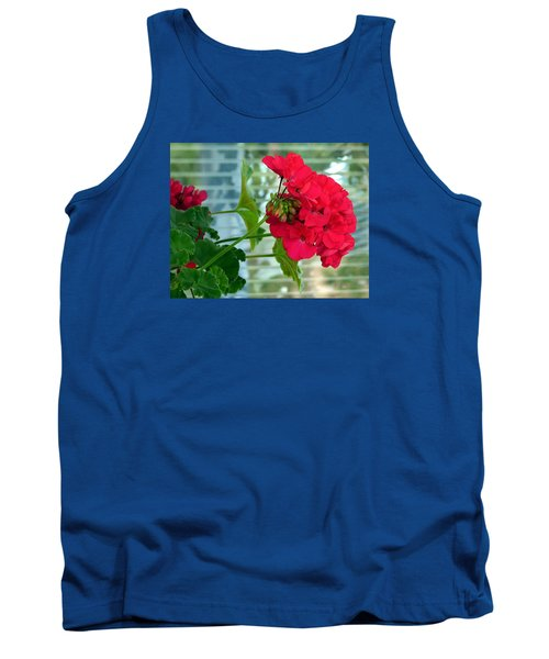 Stunning Red Geranium Tank Top by Will Borden