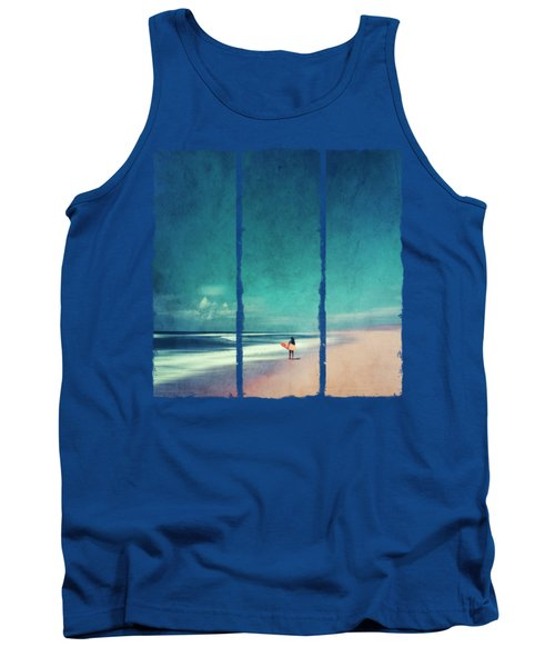 Summer Days - Abstract Seascape With Surfer Tank Top
