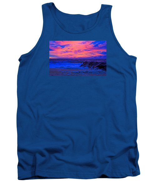 Sun Rays Painted Sky Tank Top by Allan Levin