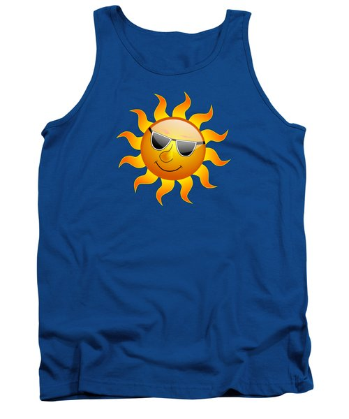 Sun With Sunglasses Tank Top