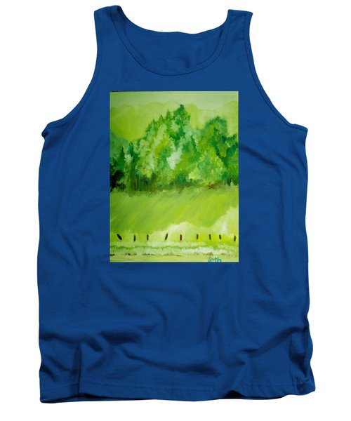 Tank Top featuring the painting Sunday At Two Thirty by Seth Weaver
