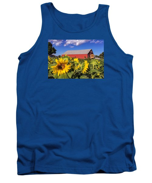Sunflower Red Barn Tank Top