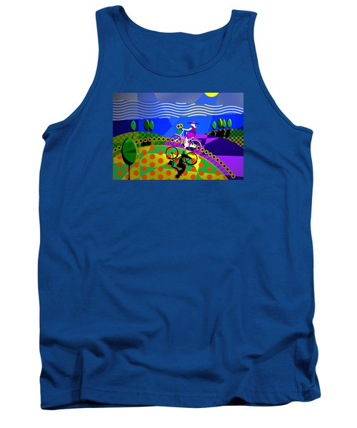 Tank Top featuring the digital art Sunny Acres by Randall Henrie