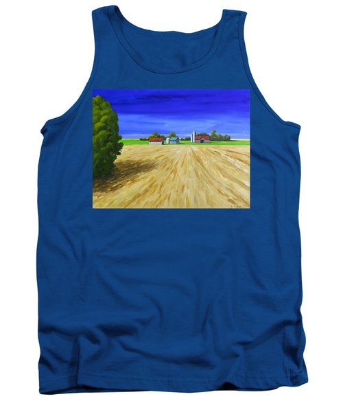 Tank Top featuring the painting Sunny Fields by Jo Appleby