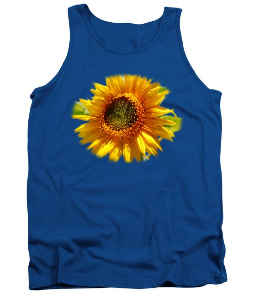 Sunny Sunflower Square Tank Top by Christina Rollo