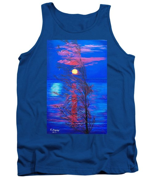 Tank Top featuring the painting Sunrise Silhouette by Sharon Duguay