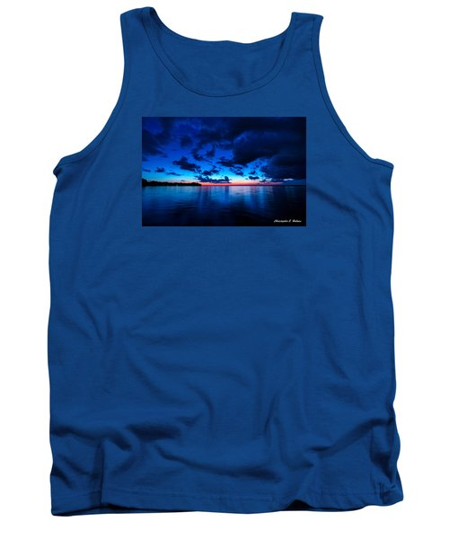 Tank Top featuring the photograph Sunset After Glow by Christopher Holmes