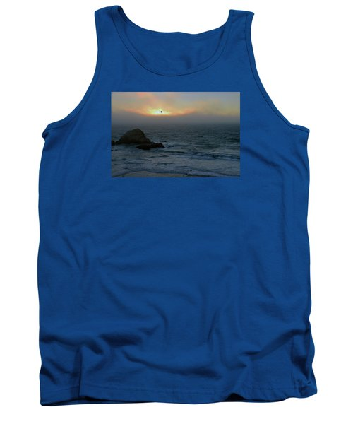Sunset With The Bird Tank Top