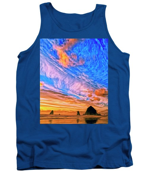 Sunset At Cannon Beach Tank Top